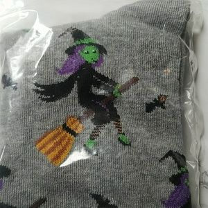 Hot Sox Accessories - Gray Halloween Flying Witches Socks by Hot Sox